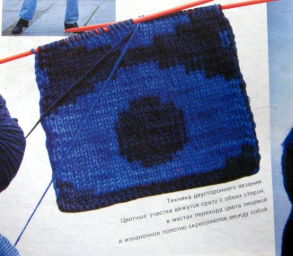 спрятать протяжки ниток по краям. женские двухцветные пуловеры спицами.
