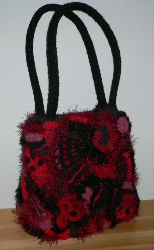 Этюд в багровых тонах Фриформ, обвязана старая кожаная сумка. другие...