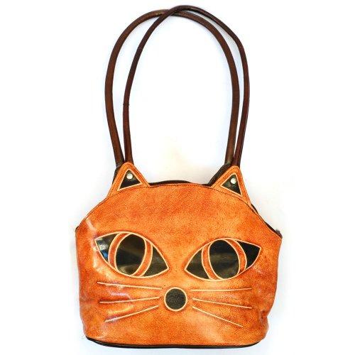 """Сумка из верблюжьей кожи  """"Глаза кошки """", цвет светло-коричневый (2). 1350..."""