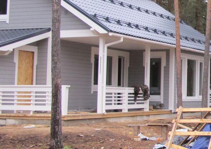 Пошаговое фото со стройки дома наличии