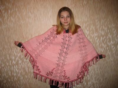 Вязание крючком - пончо.  Рхема 1. схемы вязания пончо для детей.