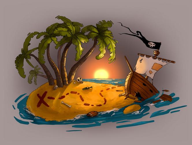 Даже Не Сокровищ Работает Остров среди этой