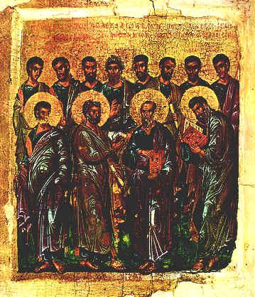 Икона двенадцать апостолов