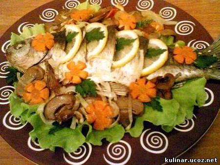 Рыба запеченная.  Добавил.  460. 0.0/0. Блюда из рыбы.  Ингредиенты.